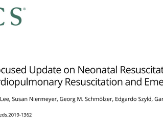 CSAR's latest publication: 2019 focused update to the American Heart Association neonatal resusc