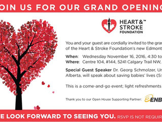 Join and Meet CSAR at the Heart & Stroke Foundation Grand Opening in Edmonton