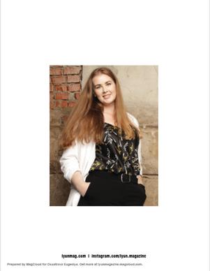 Fashion photographer | Art director Ossetrova Eugeniya (RU) LYUN 09'2018