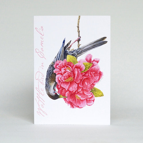Wattle Bird Greeting Card
