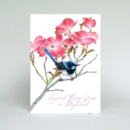 Wren in Dogwood Greeting Card
