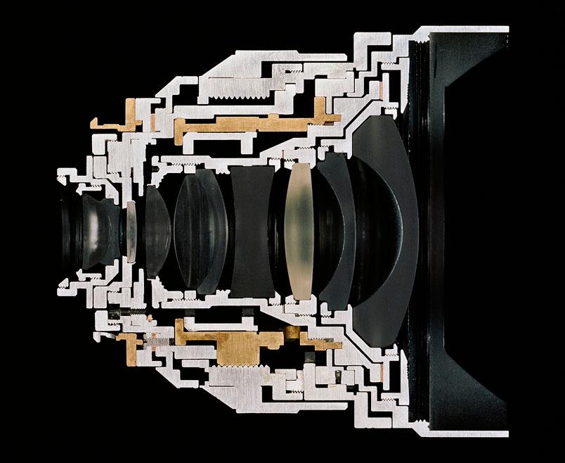 lens cut away