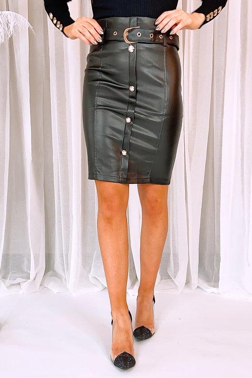 Maeve Leather Pencil Skirt