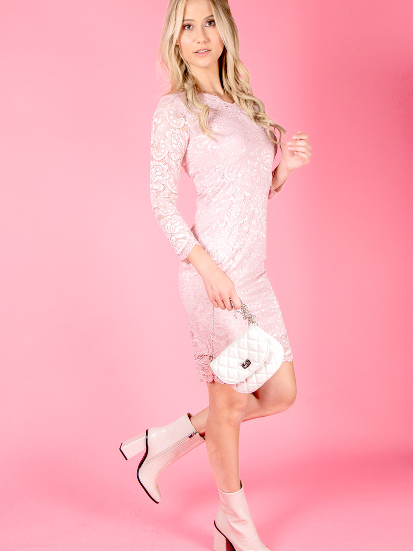 Always In Love Pink Lace Dress