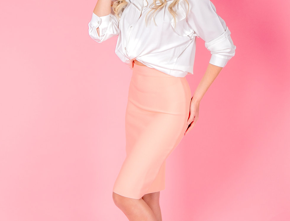 Don't Mess With Me Pink Pencil Skirt