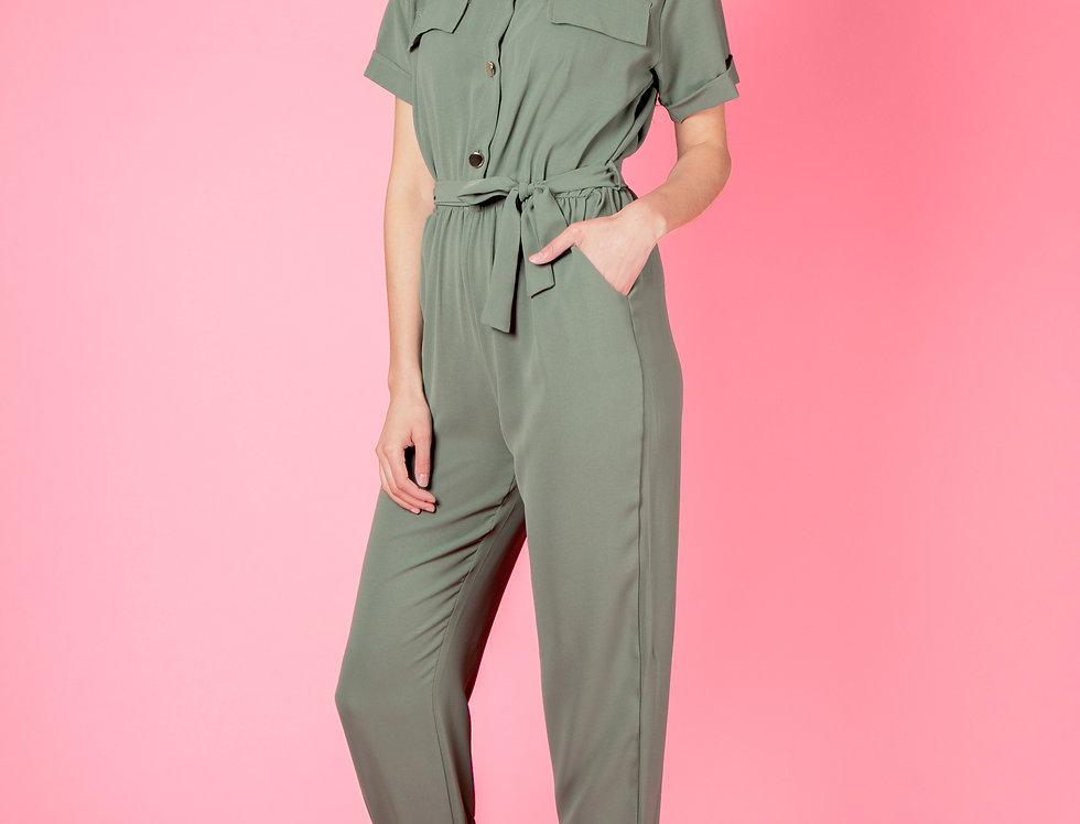 Discover The World Khaki Jumpsuit