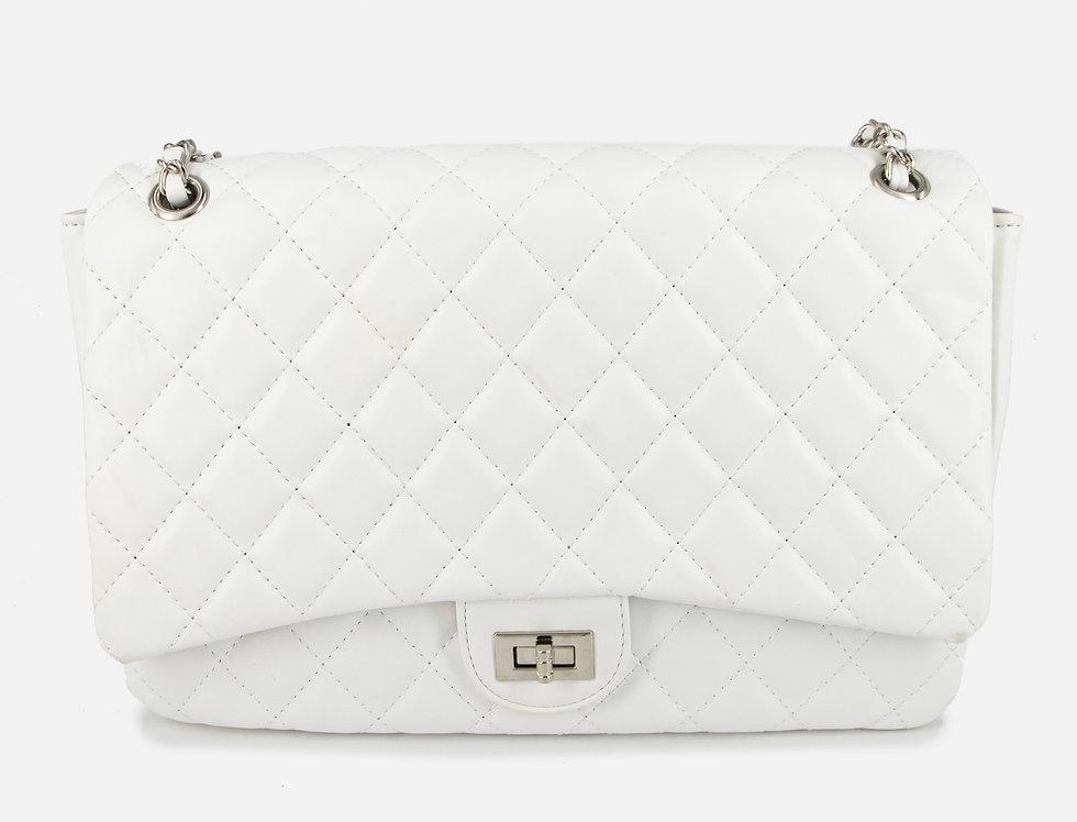 Queen Attitude White Handbag Set