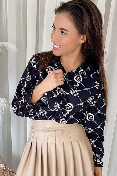Flora Black Blouse