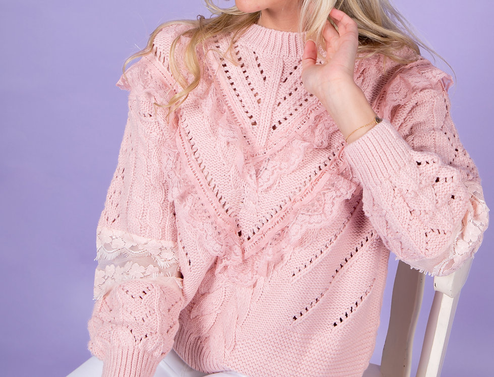 I Fell For Me Cute Pink Knitted Sweater