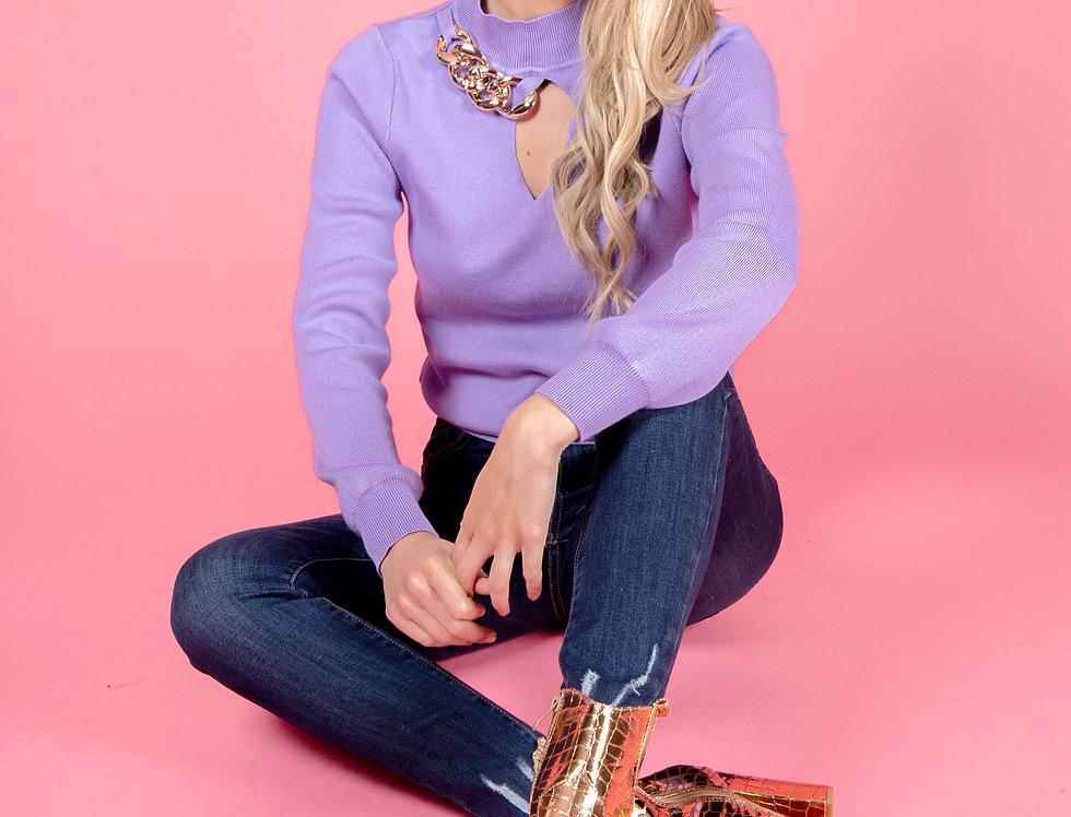 My First Love Purple Sweater