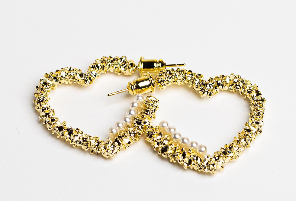 I Love You Golden Earrings