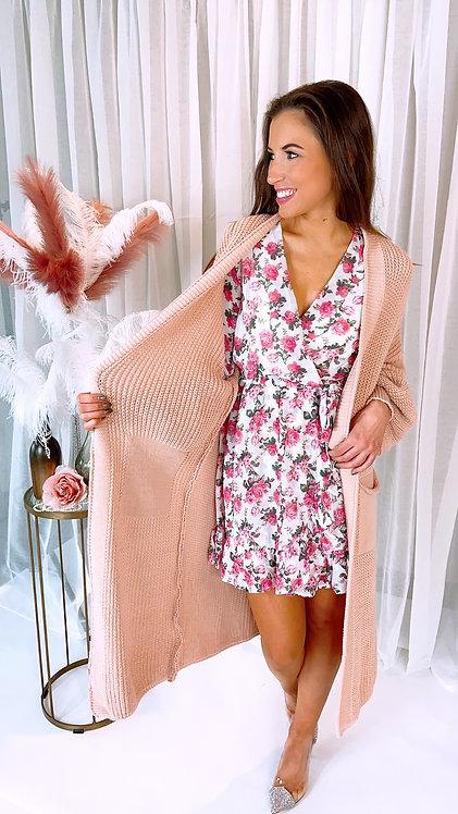Eunice Light Pink Cosy Cardigan