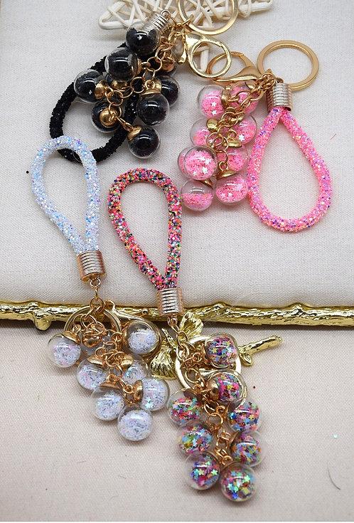 Little Stars Glass Key Ring