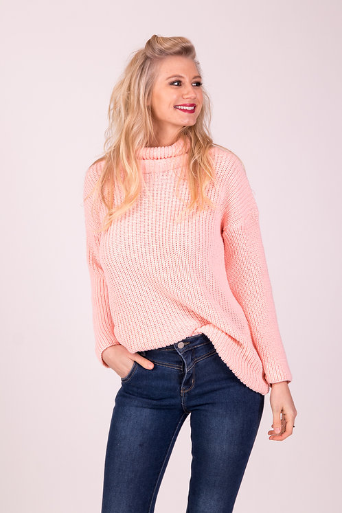 Dusty Pink  Knitted Jumper Top