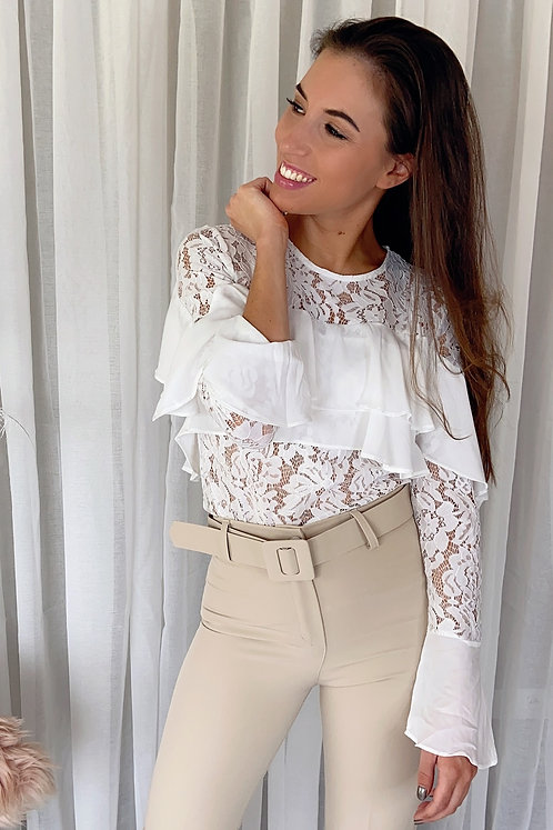 Bernadette White Lace Blouse