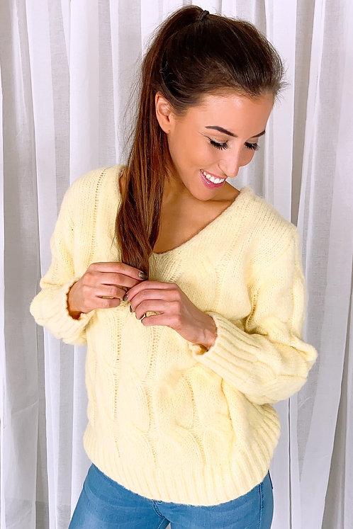 Aubrey Light Yellow Pull