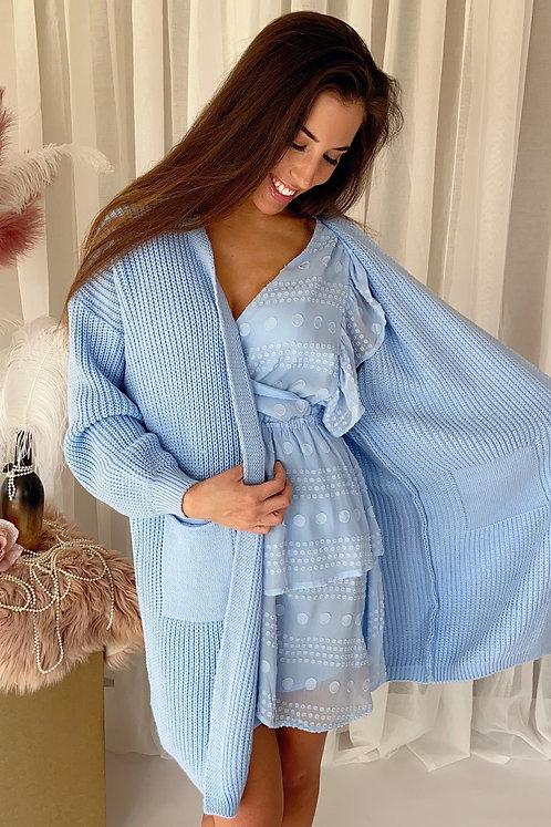 Fiora Blue Cardigan