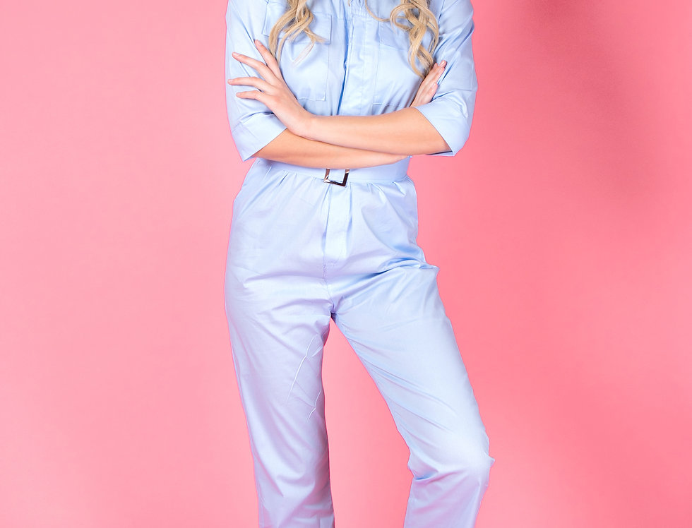 Remedy For Everything Light Blue Jumpsuit