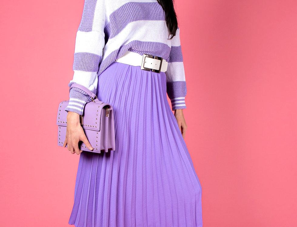 I Got Carried Away Classy Purple Skirt