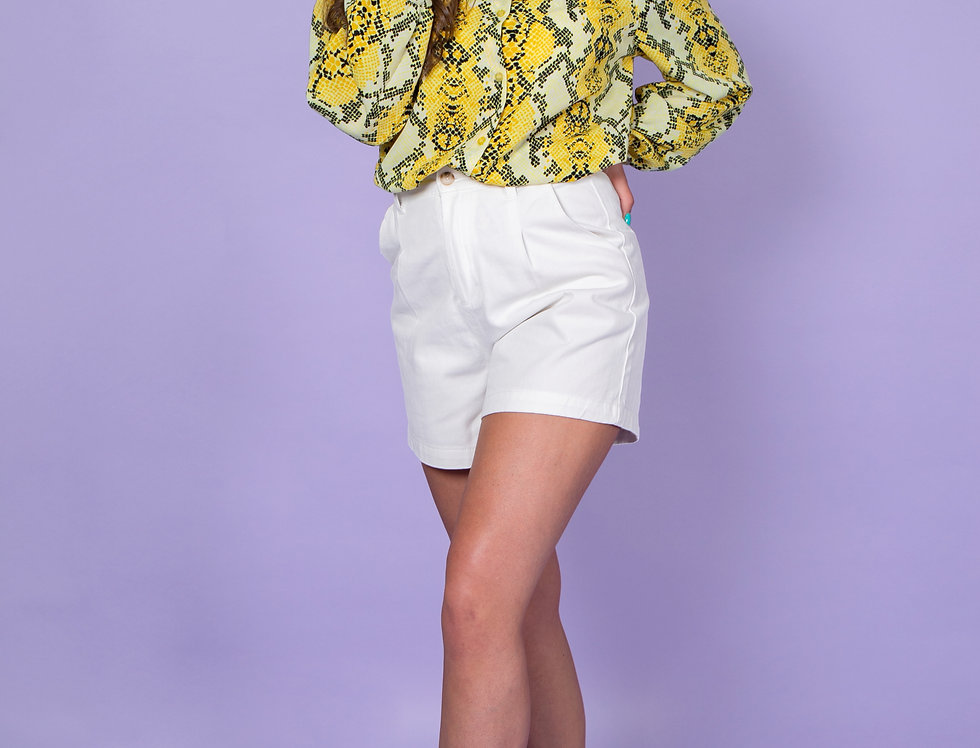 Can't Be Tamed Yellow Snake Print Blouse