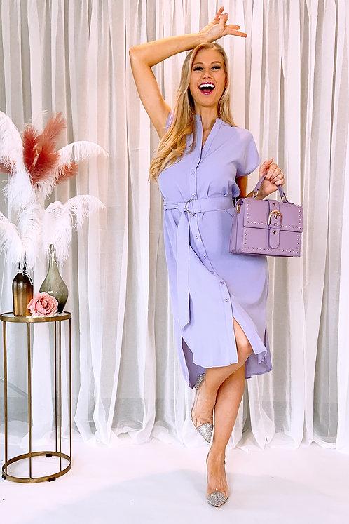 Adeline Lila Shirt Dress