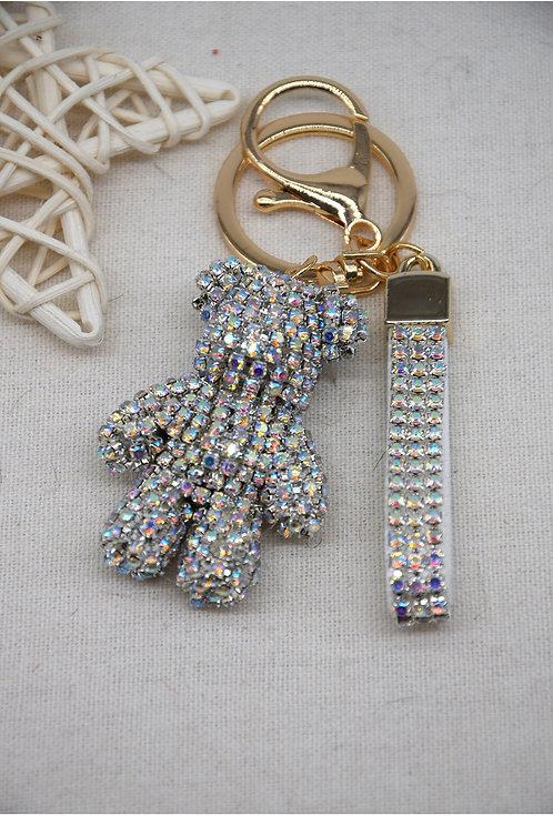 Diamond Teddy Key Ring