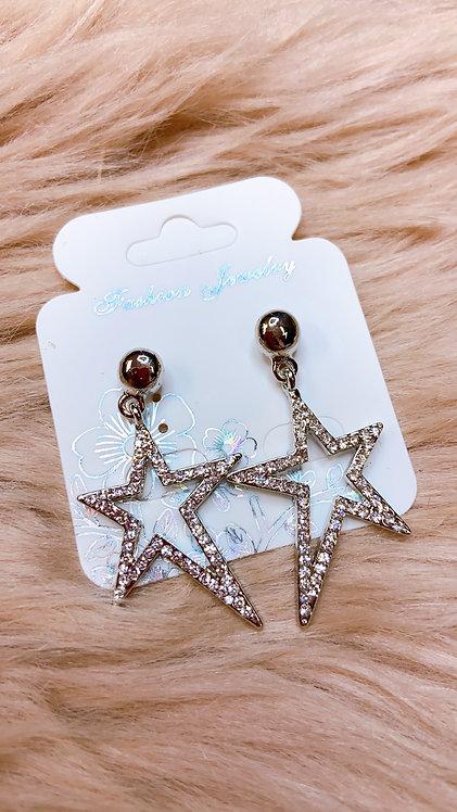 Fosty Star Earrings Silver