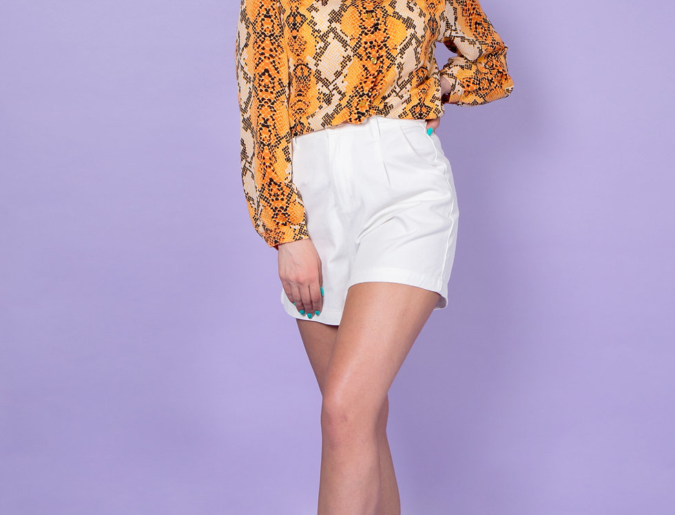 Can't Be Tamed Orange Snake Print Blouse