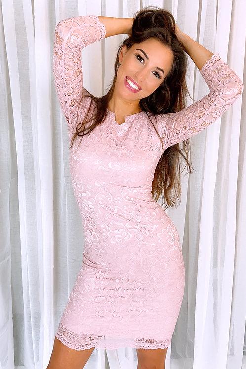 Novah Blink Pink Lace Dress