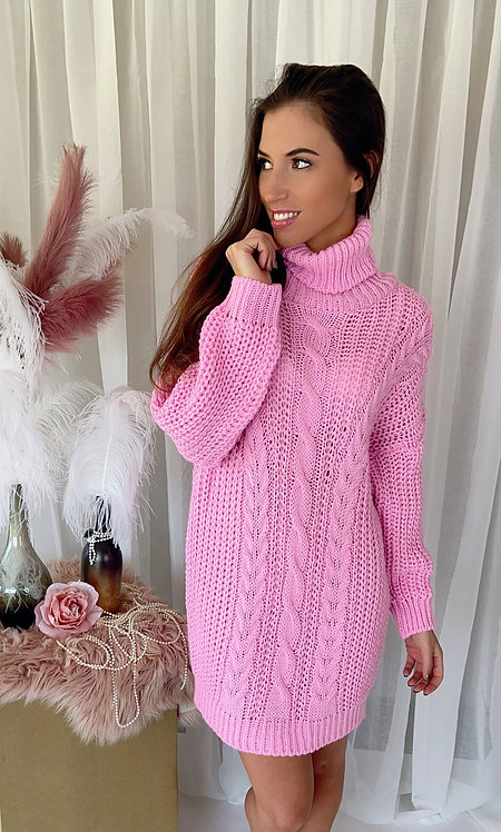 Catherine Pink Jumper Dress
