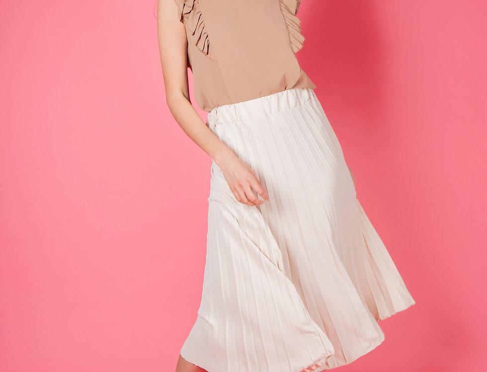 I Got Carried Away Classy Beige Skirt