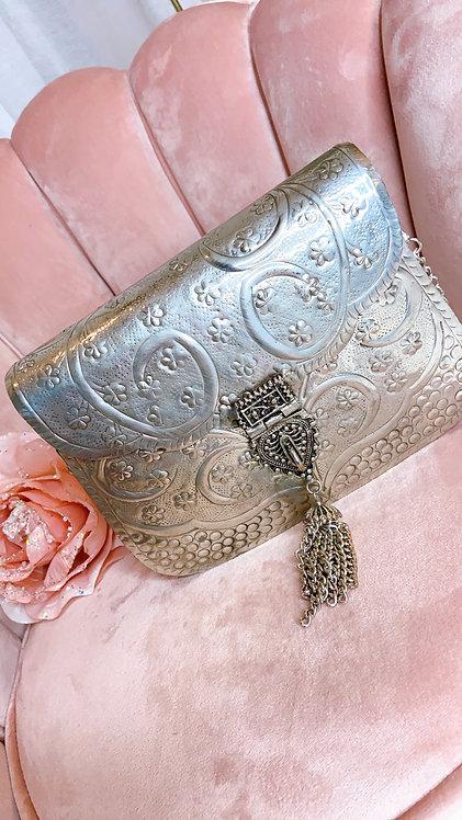 Ananya Silver Handbag
