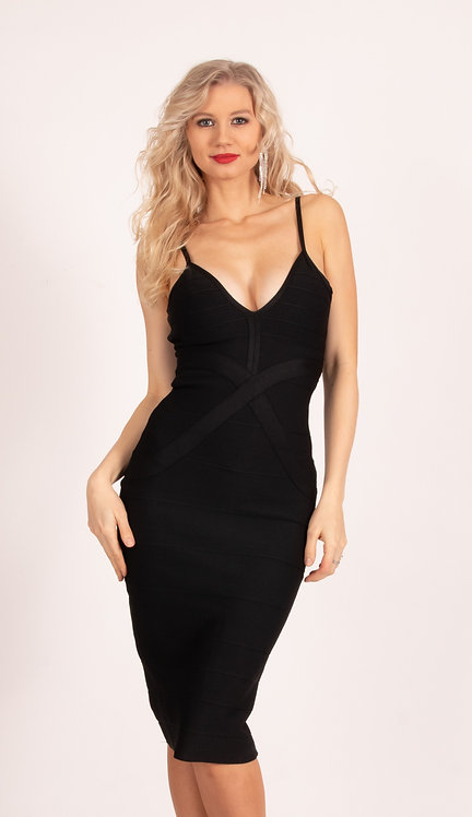 Sophia Black Bodycon Dress