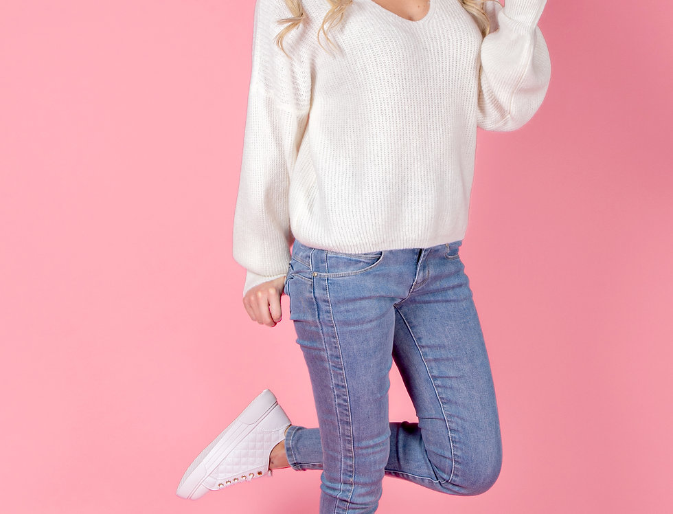 Comfy Days White Sweater