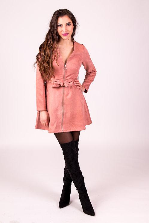 Yoko Suede  Bow Dress