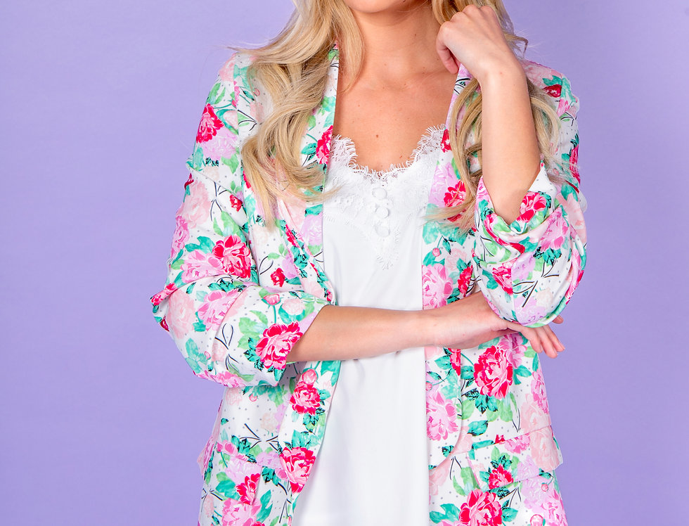 That's Just Me Rose Pattern Blazer