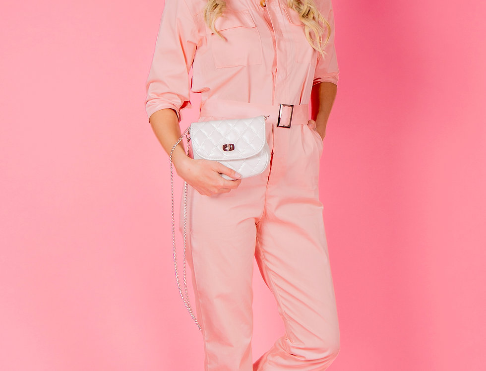 Remedy For Everything Light Pink Jumpsuit