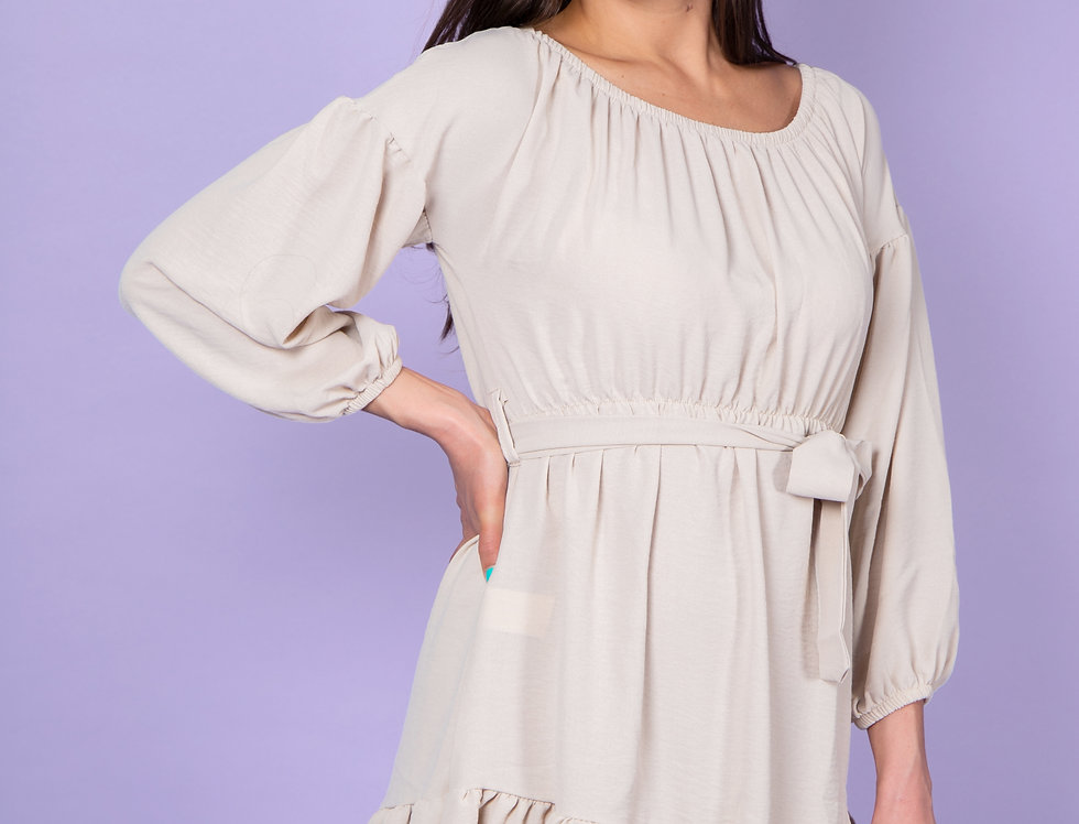 Have We Met In Our Dreams Cute Beige Dress