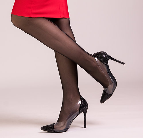 Black Glamour Diamond Pumps
