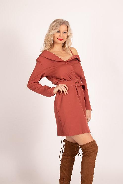 Juliana Old Pink Shoulder Dress
