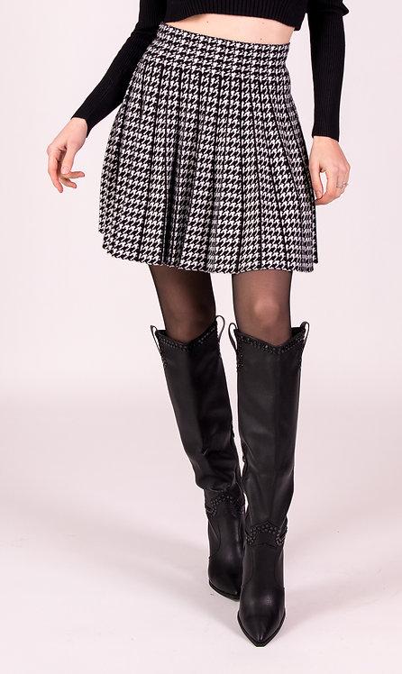 White And Black Skater Skirt