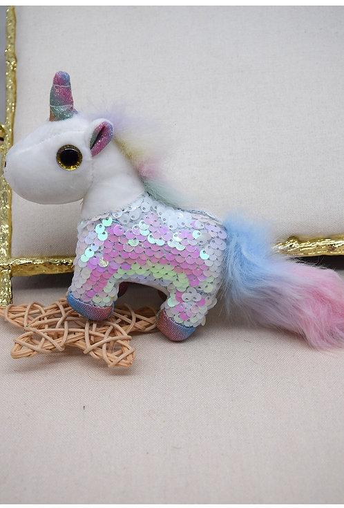 Glitter Unicorn Key Ring