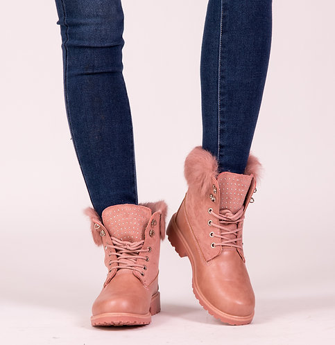 Fluffy Pink Booties