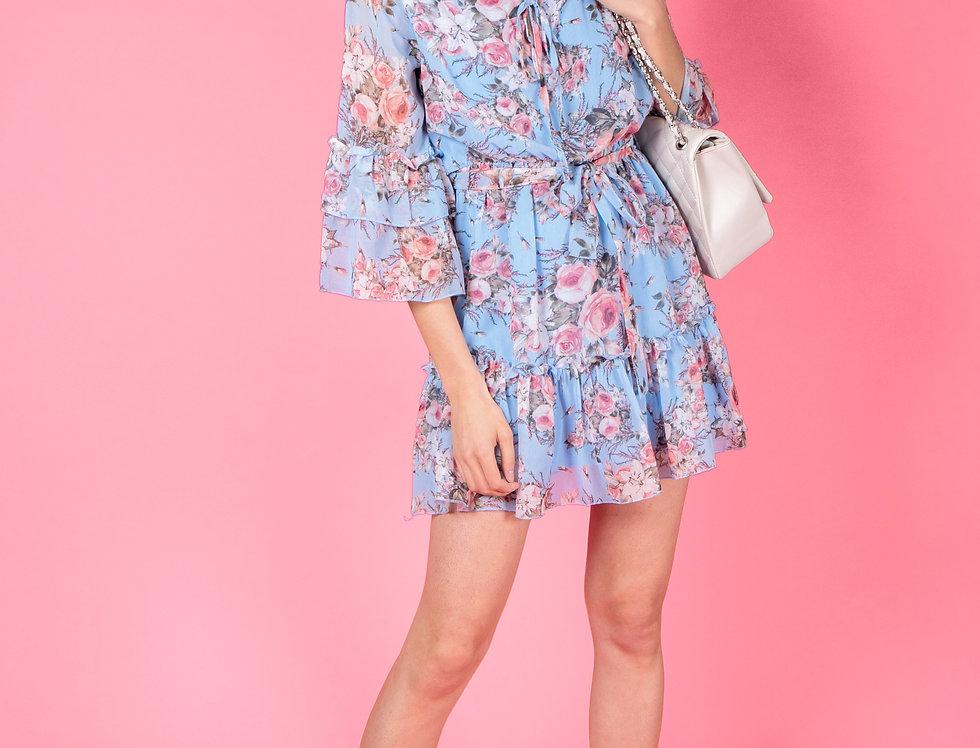Leonore Flower Printed Dress