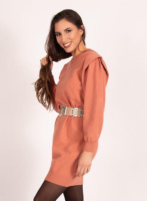 Estelle Old Pink Jumper Dress