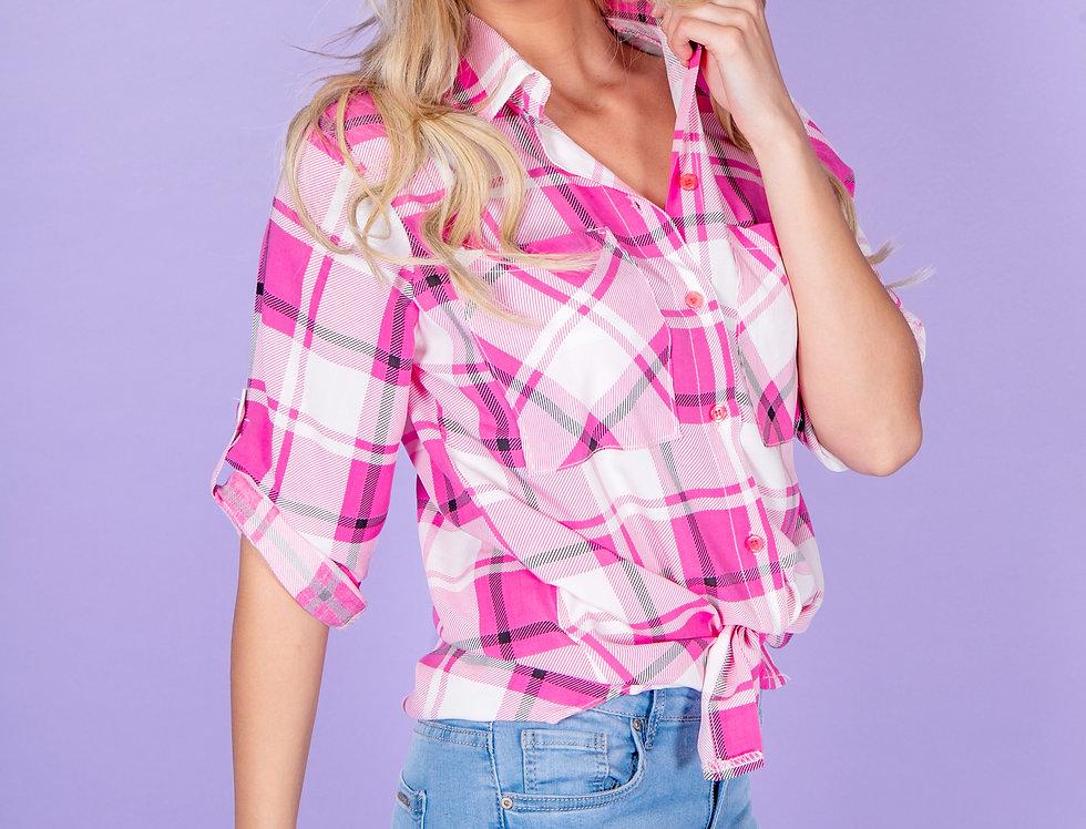 Wild West Babe White & Pink Blouse
