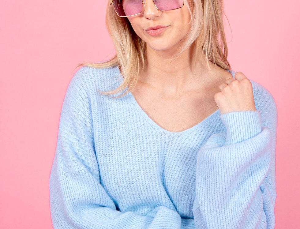 Comfy Days Blue Sweater