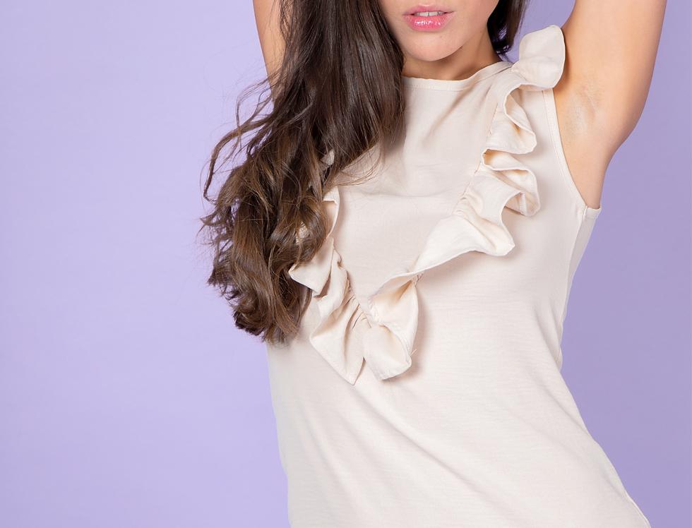 Claudine Soft Pink Ruffled Dress