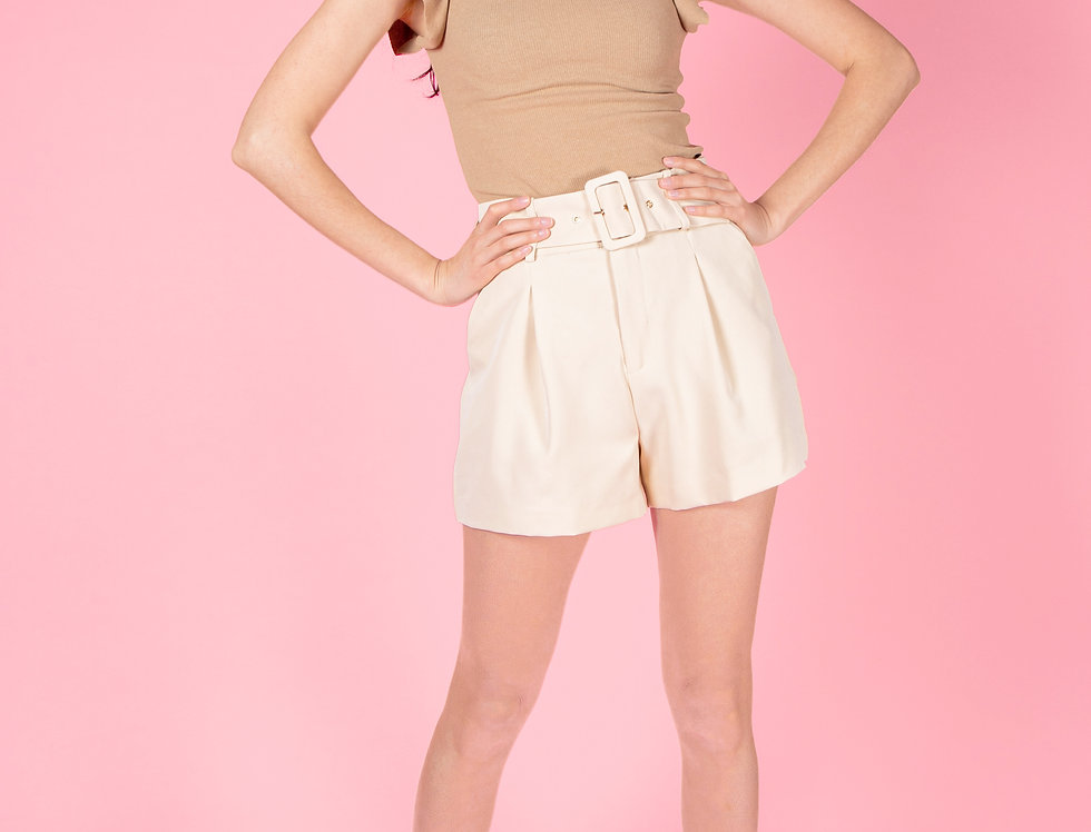 Give Me Respect Classy Beige Shorts