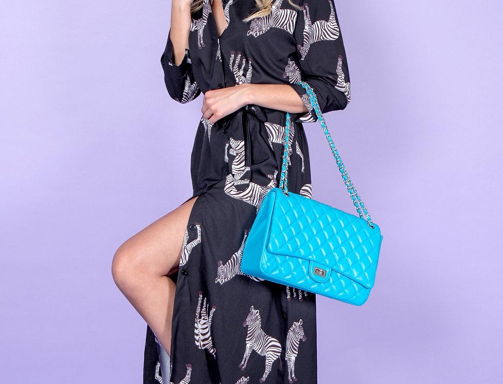 Zebra Classy Printed Maxi Dress